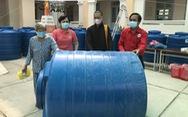 Tặng 100 bồn chứa nước cho bà con huyện đảo Cù Lao Dung