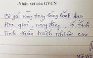 'Cô gái vàng trong làng lãnh đạo'… đi vào lời phê của thầy giáo