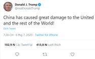 """Liên tục xài chữ """"virus Trung Quốc"""", ông Trump nói Bắc Kinh """"tàn phá thế giới"""""""