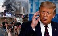 Tổng thống Trump nói nổ lớn ở Lebanon giống một 'vụ tấn công khủng khiếp'