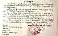Hủy quyết định xử phạt vi phạm hành chính 'nhiều không' của Công an TP Nha Trang