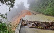 Đường lên đỉnh Bạch Mã sạt lở nghiêm trọng, lo ảnh hưởng đến du lịch Huế