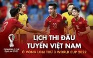 Lịch thi đấu của tuyển Việt Nam ở vòng loại cuối cùng World Cup 2022