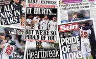 Báo chí Anh viết gì khi đội 'tam sư' thua trước tuyển Ý?