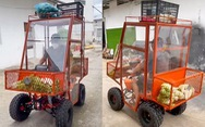Chế tạo 'xe chống dịch' mang thực phẩm đến với người dân phong tỏa