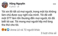 Sở Thông tin và truyền thông TP.HCM mời làm việc, xử lý chủ Facebook Hằng Nguyễn