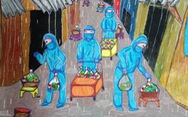 70.000 tranh thiếu nhi 'Vững tin Việt Nam' đóng góp vào Quỹ vắc xin phòng chống COVID-19