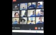 Nam sinh viên văng tục, đòi solo thầy giáo trong lớp học online