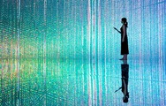 Ánh sáng kỳ diệu trong bảo tàng kỹ thuật số ở Nhật Bản