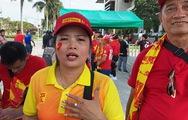 Gặp nữ CĐV 'Bay lên trời là em bay ra ngoài' trước trận gặp U22 Thái Lan