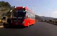 Video xe khách phóng ngược chiều trên cao tốc Liên Khương - Đà Lạt