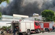 Video cháy nhà máy trong khu công nghiệp Sóng Thần 2