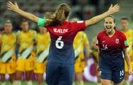 Video diễn biến chính trận nữ Na Uy thắng Úc ở World Cup nữ 2019