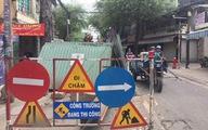 Nút giao Phú Hữu - Hồng Bàng đang thi công bị lún