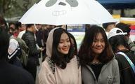 Học sinh thủ đô đội mưa đi nghe tư vấn