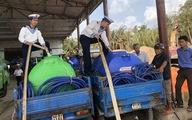 Hải quân tăng cường tàu cung cấp nước ngọt cho các tỉnh miền Tây