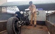 Độ cả súng đại liên, băng đạn trên môtô