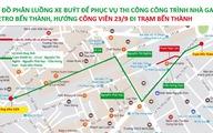 Điều chỉnh lộ trình 25 tuyến xe buýt ở vòng xoay Quách Thị Trang