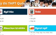 Đề - đáp án các bài thi THPT Quốc gia 2017