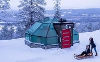 Ghé Phần Lan ngắm cực quang trong lều tuyết bằng kính