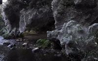 'Động bàn tơ' tựa phim kinh dị bên dòng suối ở Israel