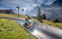 Trượt máng trên đỉnh núi cao Thụy Sĩ