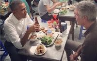 Tổng thống Obama thưởng thức bún chả Hà Nội