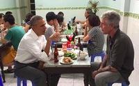 Ảnh ông Obama ngồi ăn bún chả Hà Nội gây bão mạng
