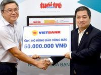 Ngân hàng VietBank ủng hộ đồng bào vùng lũ