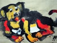 Năm Tuất, họa sĩ vẽ tranh chó