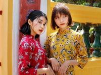 Thiếu nữ Sài Thành rạng rỡ du xuân với áo dài cổ điển