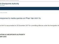 Một người tên Phan Van Anh Vu bị bắt tại Singapore
