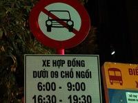 13 tuyến phố Hà Nội cấm Grab, Uber giờ cao điểm