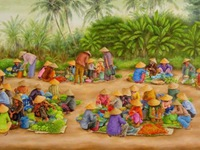 Triển lãm tranh từ thiện Tủ sách cho trẻ em Tà Nung