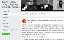 Facebook giả mạo Ban Tuyên giáo trung ương đưa thông tin sai vụ nước mắm