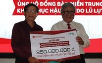 Một trường ở Nha Trang quyên góp 250 triệu đồng cho chương trình cứu trợ miền Trung