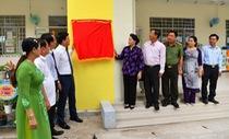 Bàn giao trường mầm non ở Cần Thơ do Vietcombank tài trợ