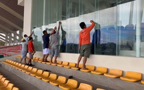 Sân Binan gấp rút hoàn thiện cho trận U22 Việt Nam - U22 Brunei