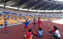 Sân thi đấu điền kinh đẹp 'long lanh' sẵn sàng cho SEA Games 30