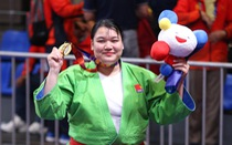 Nữ võ sĩ kurash Thanh Thủy phải tăng gần 20kg để giành HCV SEA Games 30