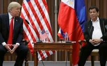 Ông Trump ca ngợi mối thân tình với ông Duterte