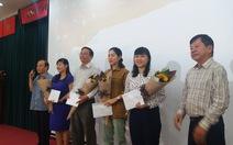 Thành ủy TP.HCM khen thưởng các tác giả đoạt giải báo chí