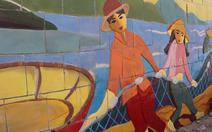 Đà Nẵng đưa tranh gốm ra bờ kè biển