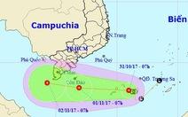 Áp thấp nhiệt đới gây gió giật cấp 9, nguy cơ lốc xoáy, vòi rồng
