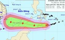 Bão Tembin sẽ mạnh thêm khi vào Biển Đông