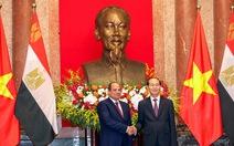 Chủ tịch nước Trần Đại Quang tiếp đón Tổng thống Ai Cập