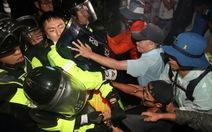 Dân Hàn đụng độ mạnh với cảnh sát, không muốn triển khai THAAD