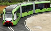 Trung Quốc thử nghiệm chạy tàu điện trên đường ray ảo