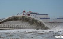 Bùn thải đã được hút đổ sang cảng tổng hợp Vĩnh Tân