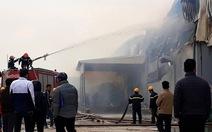 Cháy lớn tại công ty sản xuất bông ở Thái Bình
